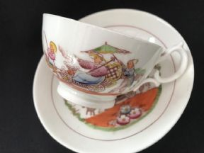 HILDITCH 'Shell carriage' cup & saucer (3)